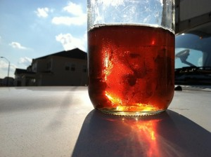 glass jar water