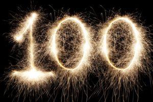 100 - yea!